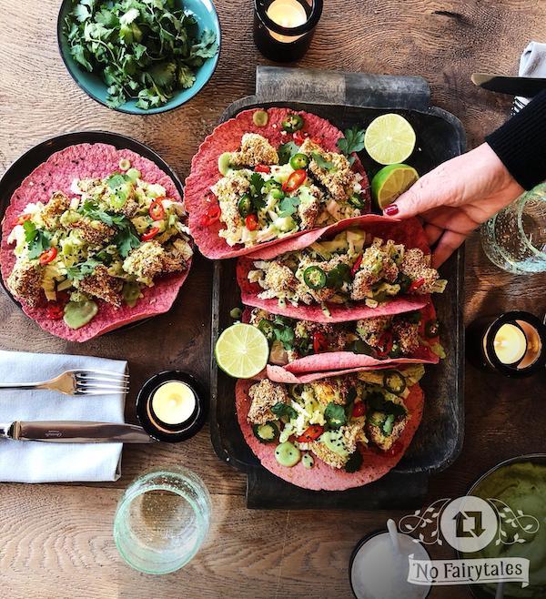 Gezonde groenten tortillas